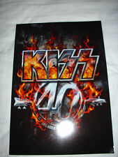 KISS-40 YRS DECADES OF DECIBEL'S CONCERT TOUR BOOK.GOOD CONDITION.