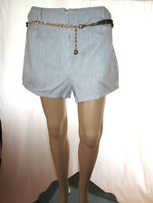Womens Vtg Culottes Look Cotton Stripe Casual Summer Hot Pants Shorts sz XL AF35