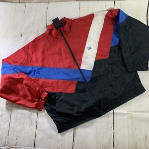 JCPenny USA Olympics Vintage Zip Up Windbreaker Size L Red White Blue