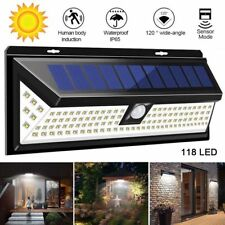 118 LED Solar Powered Motion Sensor PIR Wall Security Light Lamp Garden Outdoor