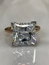 Princess Solitaire Wedding Engagement Ring 6.00ct. 14k Rose Gold #4886