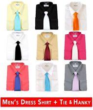 Men's Berlioni Business Tie Set Dress Shirt Tie And Hanky Gift Set