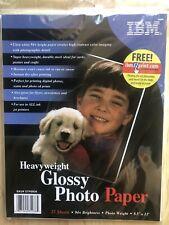 "IBM 2001 Ink Jet Printer Glossy Photo Paper 25 Sheets 8.5""x11"" Heavyweight"