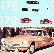 CITROEN ID 19 Rallye Monte Carlo 1959 #176 COLTELLONI 1:87 Pegatina Adhesivo