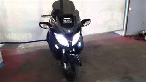 KIT FARI LED MOTO H7 + H4 IDEATO PER SUZUKI BURGMAN ABBAGLIANTE + ANABBAGLIANTE