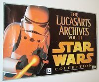 1996 STAR WARS VINTAGE original 70 x100cm SO RARE METRO GAMES POSTER LUCASFILM