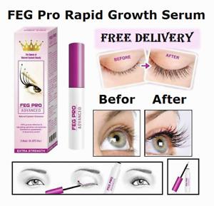 FEG Pro Rapid Growth Serum 3ml EyeLash Enhancer Brush Liquid EyeLash Oil