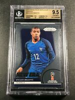 KYLIAN MBAPPE 2018 PANINI PRIZM WORLD CUP #9 NEW ERA ROOKIE RC BGS 9.5 GEM (A)