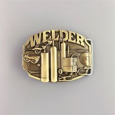 New Vintage Bronze Plated Welder Trades Tradesman Belt Buckle also Stock in US