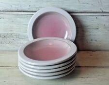 Set of 6 Edith Heath Ceramics HEATH ROSE Saucers Plates NOS California Pottery