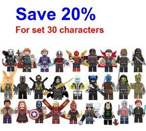 100+ Marvel LEGO Avenger Marvel DC Super Heroes Xmen Wolverine Minifigures Lego