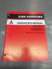 Allis Chalmers 2600 Series Disc Operators Manual 71505384