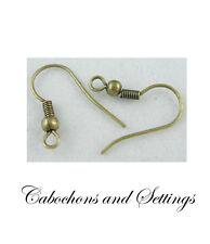 144 Antique Bronze French Ear Wire Hooks Hypo-Allergenic Nickel Free Earrings