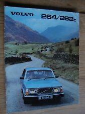 Volvo 260-Series 1979-80 UK Market Sales Brochure 264 GL GLE 262 C
