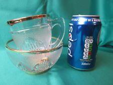 Glass Milk and Sugar set with gilt edging