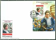 MOZAMBIQUE 2014 80th MEMORIAL  ANNIVERSARY OF MARIE CURIE   S/S  FDC