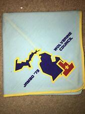 Boy Scout BSA 1973 Wolverine Michigan Council National Jamboree Neckerchief
