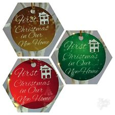 First Christmas in our New Home 2017 - Tree Decoration - Red, Green or Gold