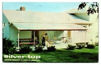 1960s Silver-Top Aluminum Awnings, White Marsh, MD Postcard