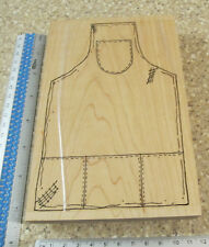 LARGE APRON MW RUBBER STAMP BY RUBBERNECKER STAMP CO