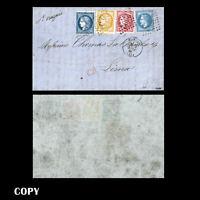 FRANCE 1871 Cover to Nantes, 80c Pink+ 20c Laurés + 20c + 10c,Burdeos,COPY