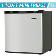 1.1 Cu Ft Compact Mini Freezer Upright Small Refrigerator Stainless Steel Silver