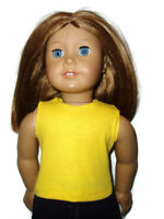Bright Yellow Tank Top T-Shirt 18 inch Doll Clothes fits American Girl Dolls