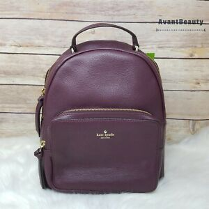 NWT Kate Spade Mini Nicole Larchmont Avenue Backpack Deep Plum Purple New Tag