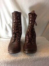 """Nice ALPINE By CATS PAW Womans Brown Leather Lace Up Boots 11"""" Very Soft Leather"""