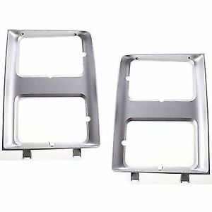 New Set of 2 Head light Headlight Doors Headlamp Bezels Left & Right Side Pair