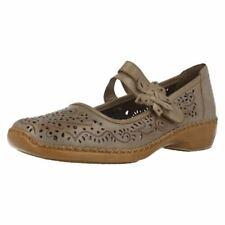 Chaussures plates et ballerines grises Rieker en cuir pour
