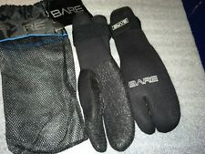BARE 7mm 3 finger mitts/gloves/brand new/size large