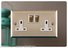 Double Electric Plug Socket Surround, Finger Plate, Mirror - FREE UK POSTAGE