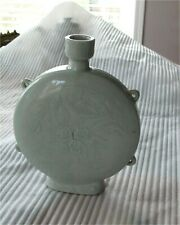 Joseon Dynasty Antique Korean Moon Flask Vase Celadon Glazed 1600's Rare