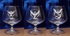 Personalised engraved POKEMON GO -Valor,Mystic,Instinct glass Birthday,Christmas