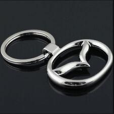 New Car Logos Titanium Key Chain Car Keychain Ring Keyfob Metal Keyrings mazda