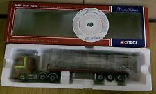 Corgi CC12208 Scania Flatbed Trailer & Log Load Van Der Wiel Ltd Ed No 0003/2600