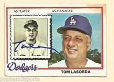 Tommy Lasorda Signed/Autographed 1978 Topps Card Dodgers w/Coa