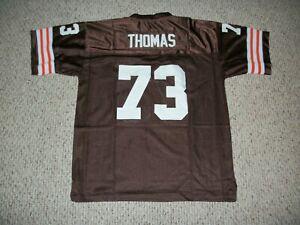 JOE THOMAS Unsigned Custom Cleveland Brown Sewn Football Jersey Sizes S-3XL