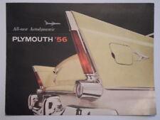 PLYMOUTH BELVEDERE SAVOY PLAZA & SUBURBAN orig 1956 Large USA Mkt Sales Brochure