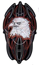 JUMBO EMBROIDERED PIN STRIPE EAGLE  PATCH JBP094 10 INCH NEW jacket EAGLES
