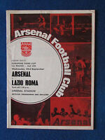 Arsenal v Lazio - 23/9/70 - UEFA Cup 1st Rd 2nd Leg Programme - Fairs Cup