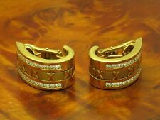 18kt GOLD TIFFANY & CO ITALY OHRSTECKER / OHRCLIPS MIT 1,92ct BRILLANT BESATZ
