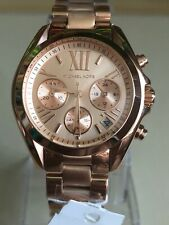 MICHAEL KORS MK5799 ROSE GOLD BRADSHAW STAINLESS STEEL MINI LADIES WATCH.