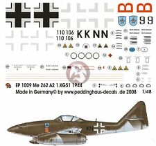 Peddinghaus 1/48 Me 262 A-2a Sturmvogel Markings 1./KG 51 'Edelweiss' WWII 1009