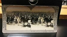 18689 a bristling forest of bayonets stereoview card keystone Russian troops wwI