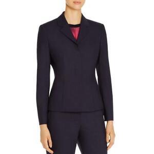 BOSS Hugo Boss Womens Jatinda Wool Checkered Two-Button Blazer Jacket BHFO 9682