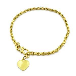 Pre-Owned 22ct Gold Rope Bracelet Ladies 6.5Inch