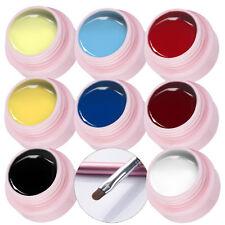 9pcs/set UV Gel Polish Nail Art Gelb Rot Blau Farbe Gel & Farbe UV Gel Pinsel