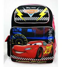 "Disney Cars Backpack 16"" Large School Bag by Disney Cars Lightning McQueen NWT"
